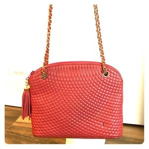 BALLY Rare Coral quilted lambskin bag